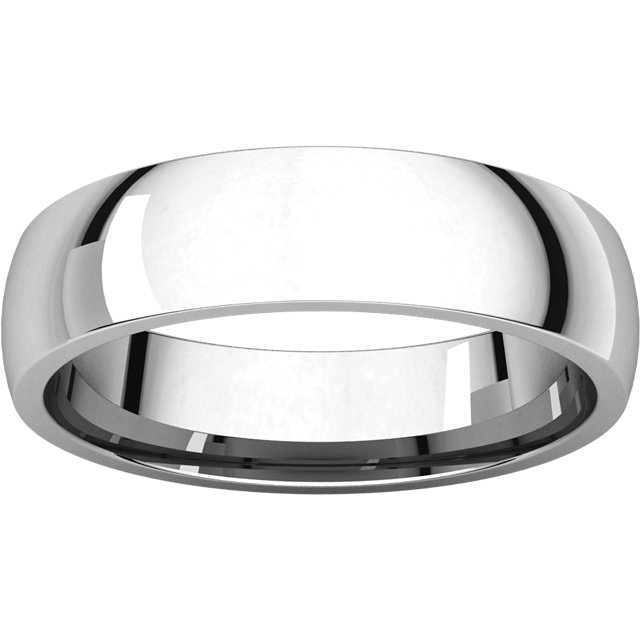 Picture of 14K Gold 5 mm Comfort Fit Light Wedding Band