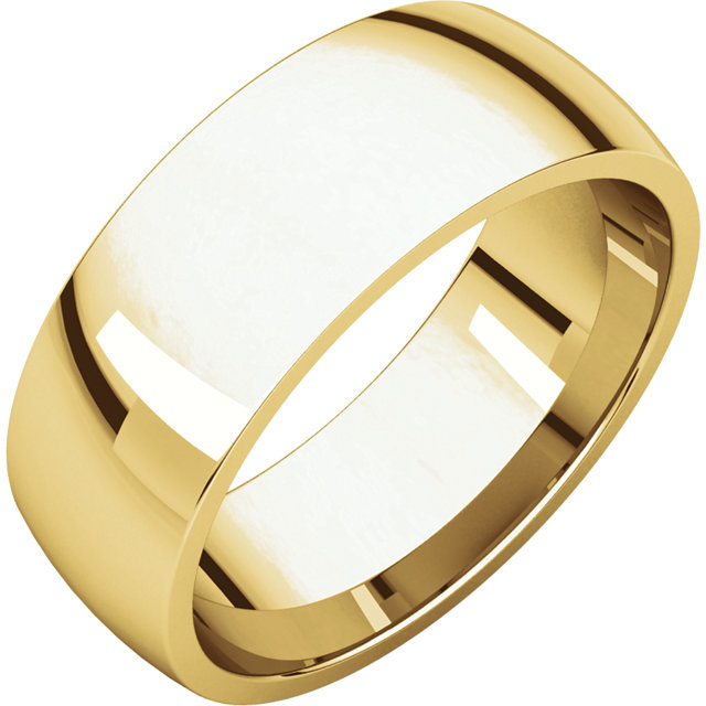 Picture of 14K Gold 7 mm Comfort Fit Light Wedding Band