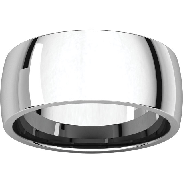 Picture of 14K Gold 8 mm Comfort Fit Light Wedding Band