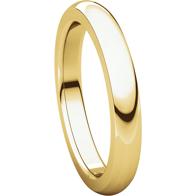 Picture of 14K Gold 3 mm Comfort Fit Heavy Wedding Band
