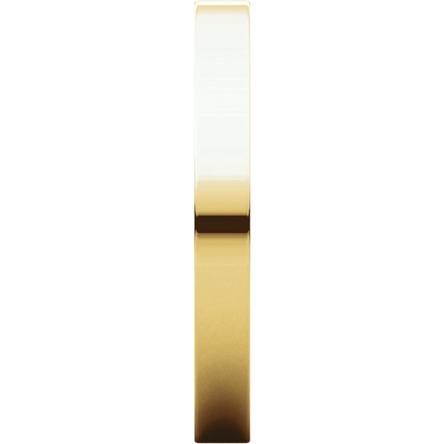Picture of 14K Gold 2.5 mm Flat Wedding Band