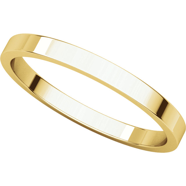 Picture of 14K Gold 2 mm Flat Wedding Band