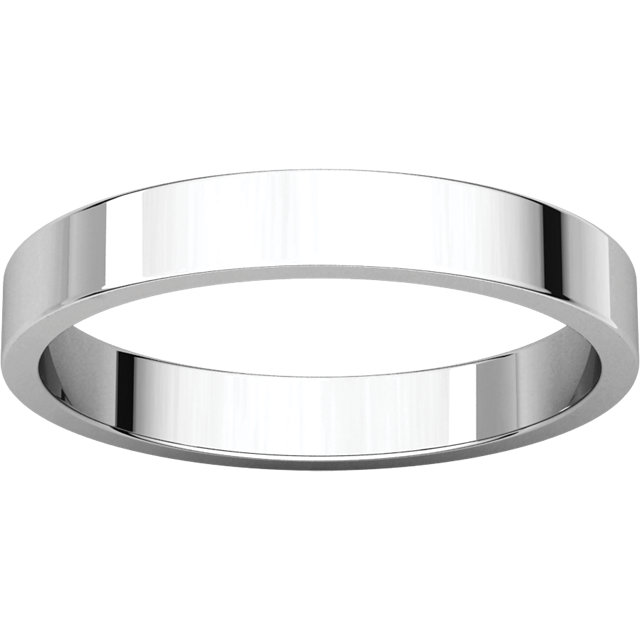 Picture of 14K Gold 3 mm Flat Wedding Band