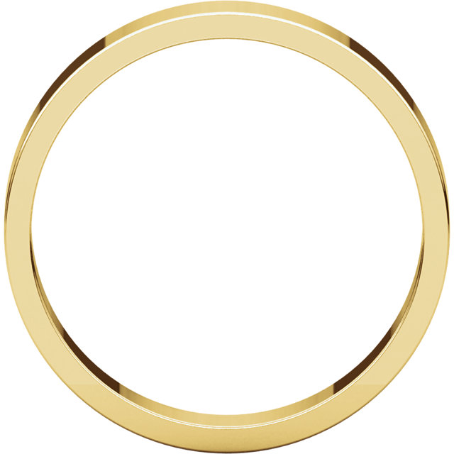 Picture of 14K Gold 4 mm Flat Wedding Band