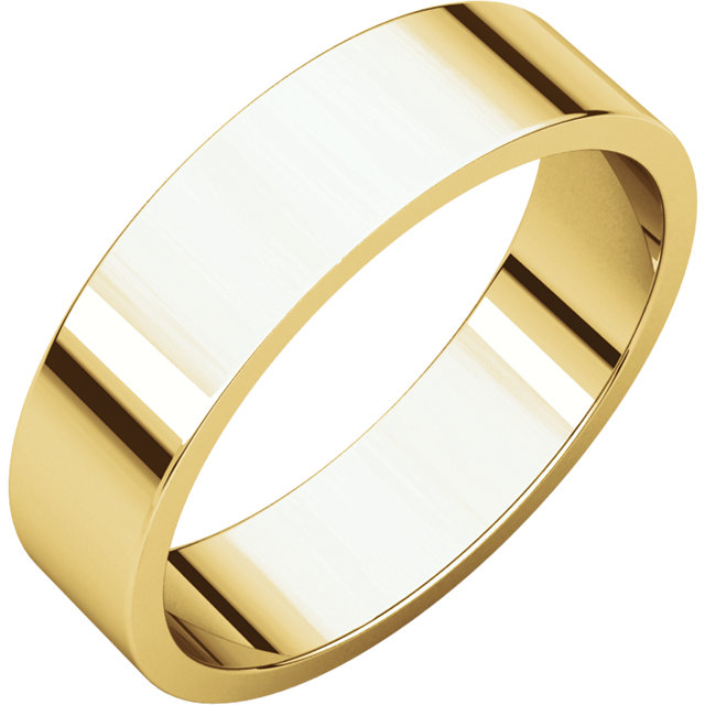 Picture of 14K Gold 5 mm Flat Wedding Band