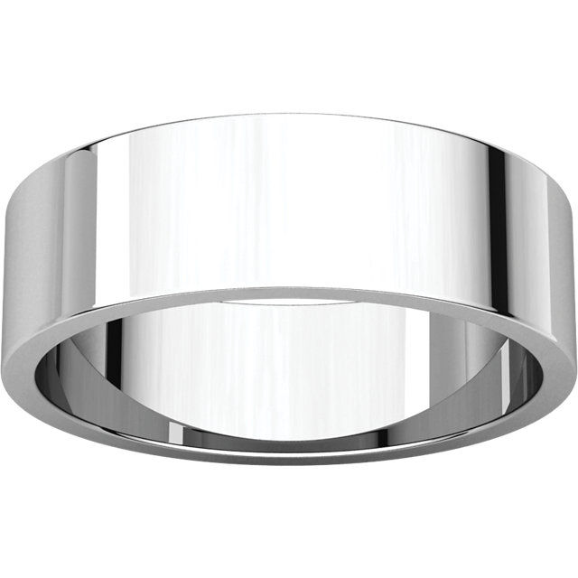 Picture of 14K Gold 6 mm Flat Wedding Band