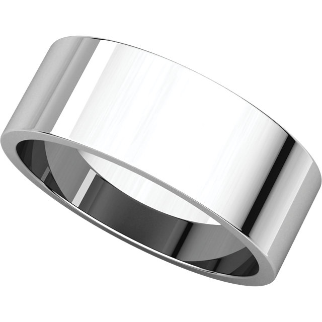 Picture of 14K Gold 7 mm Flat Wedding Band