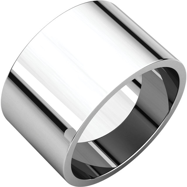 Picture of 14K Gold 12 mm Flat Wedding Band