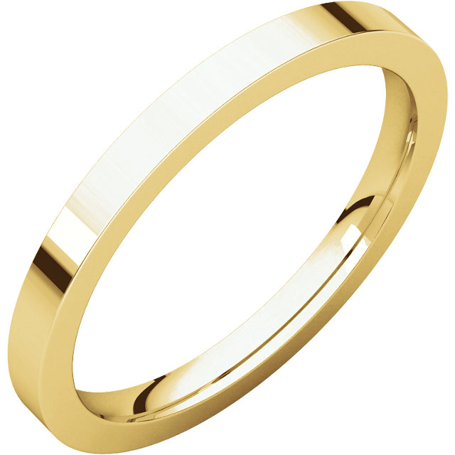 Picture of 14K Gold 2 mm Flat Comfort Fit Band