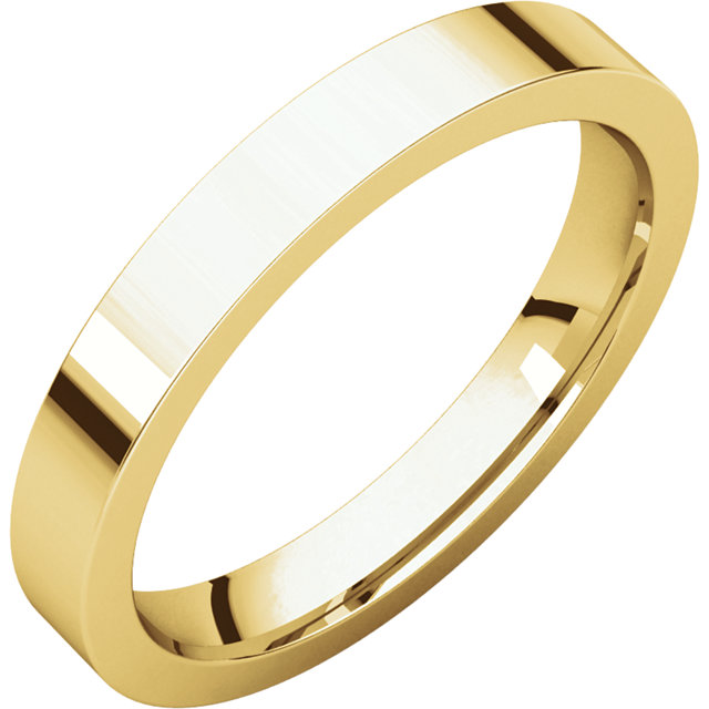 Picture of 14K Gold 3 mm Flat Comfort Fit Band