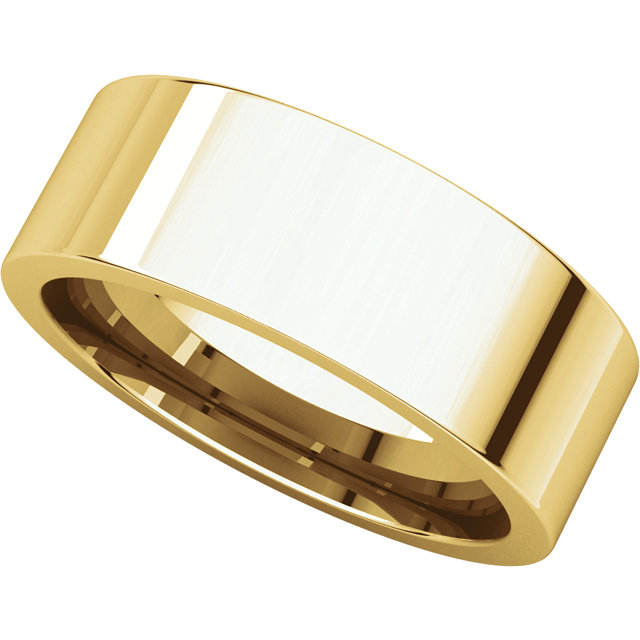 Picture of 14K Gold 7 mm Flat Comfort Fit Band