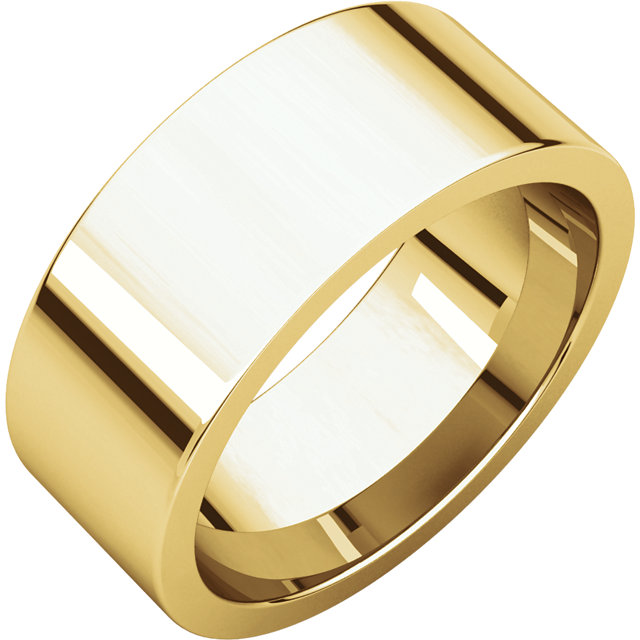 Picture of 14K Gold 8 mm Flat Comfort Fit Band