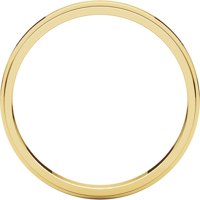 Picture of 14K Gold 2.5 mm Flat Edge Wedding Band
