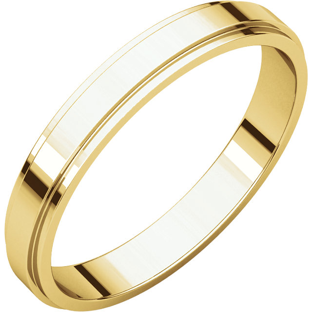 Picture of 14K Gold 3 mm Flat Edge Wedding Band