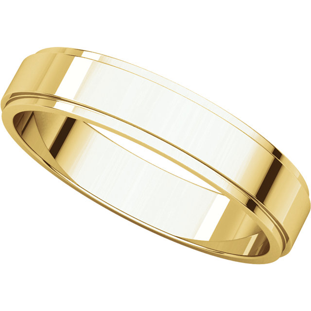 Picture of 14K Gold 4 mm Flat Edge Wedding Band