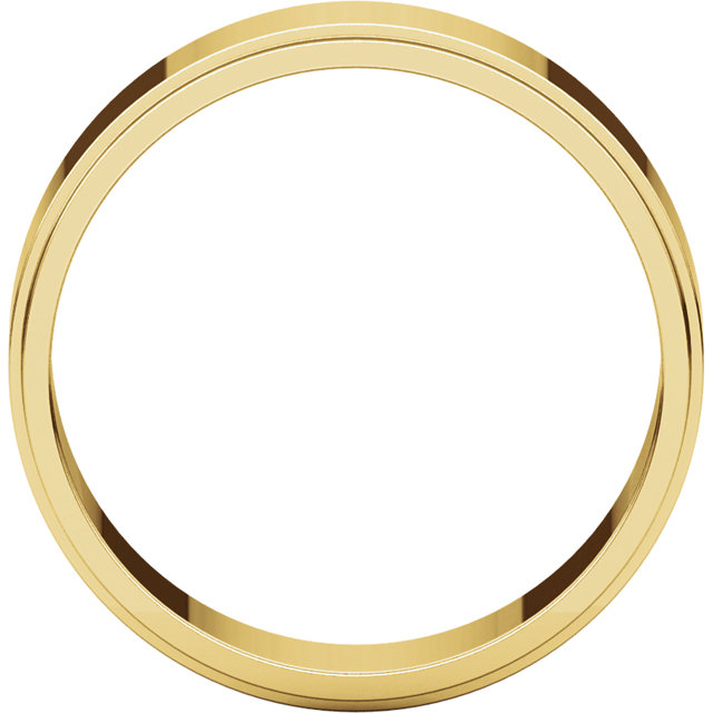 Picture of 14K Gold 6 mm Flat Edge Wedding Band