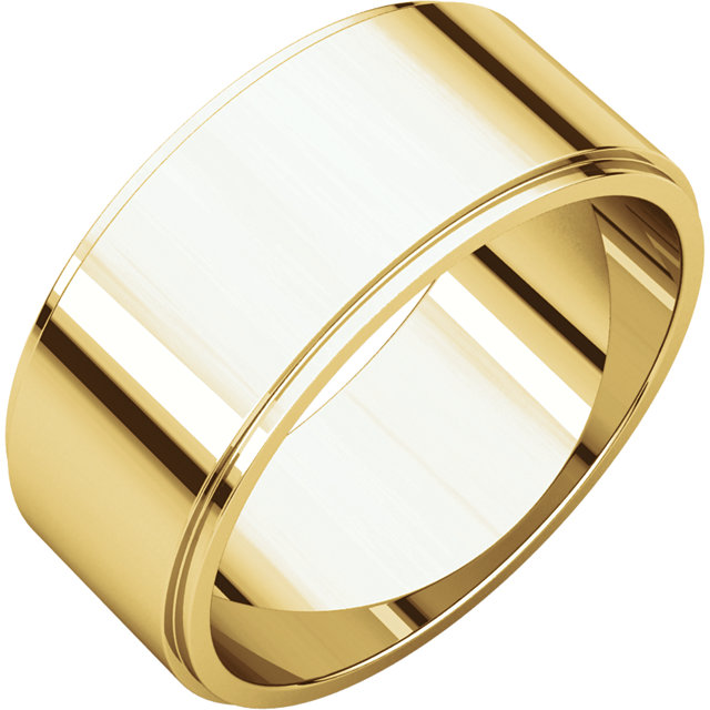 Picture of 14K Gold 8 mm Flat Edge Wedding Band