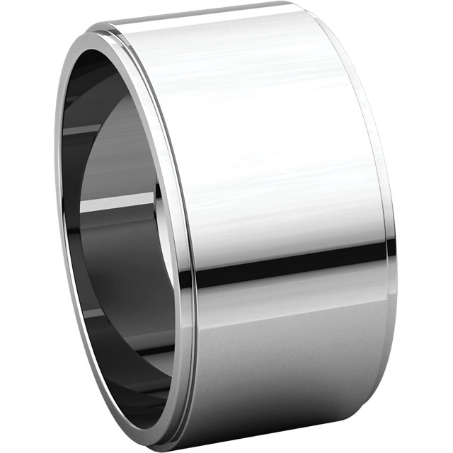 Picture of 14K Gold 10 mm Flat Edge Wedding Band