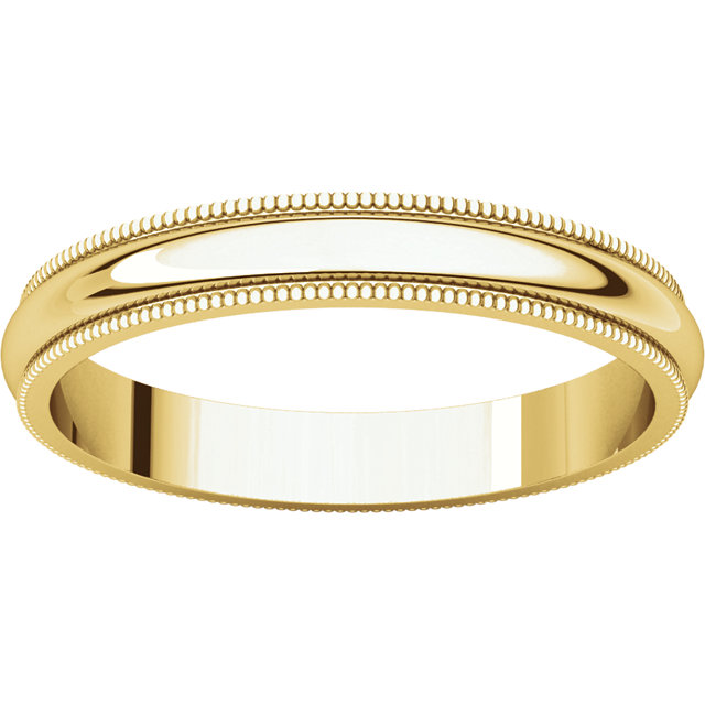 Picture of 14K Gold 3 mm Milgrain Wedding Band