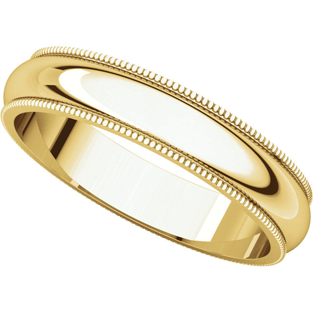 Picture of 14K Gold 4 mm Milgrain Wedding Band