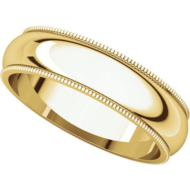 Picture of 14K Gold 5 mm Milgrain Wedding Band