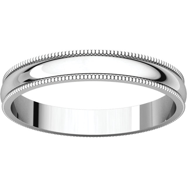 Picture of 14K Gold 3 mm Milgrain Lightweight Band