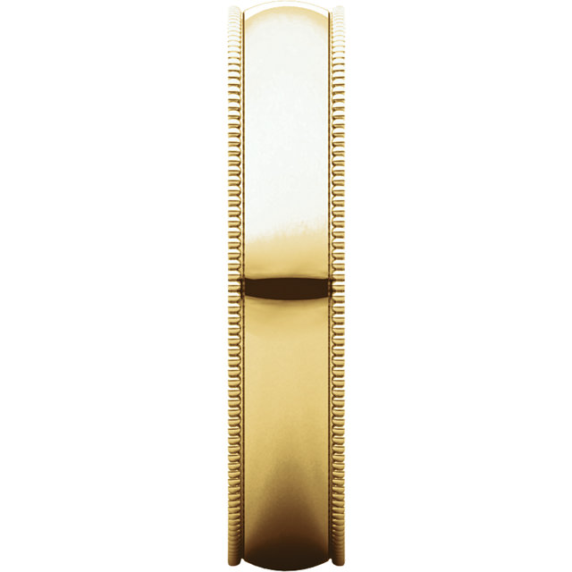 Picture of 14K Gold 4 mm Milgrain Lightweight Band