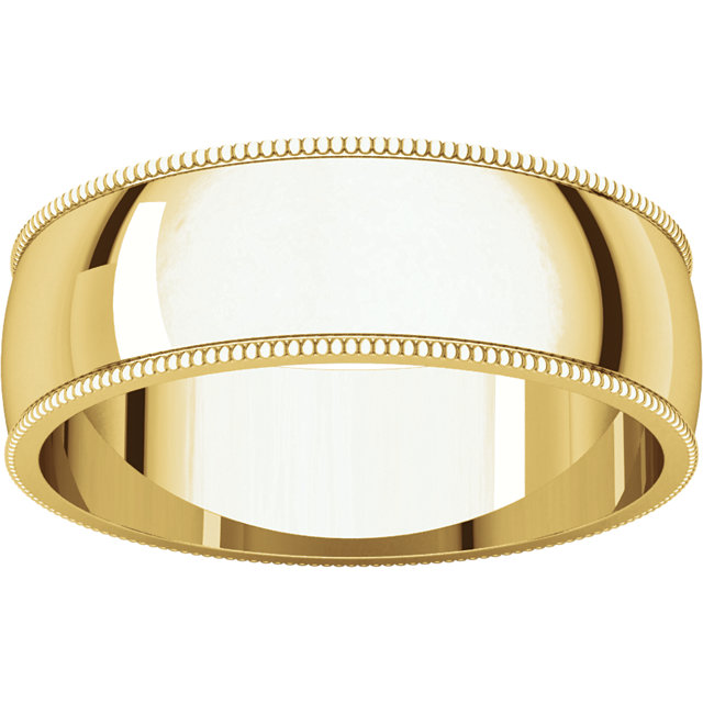 Picture of 14K Gold 6 mm Milgrain Lightweight Band