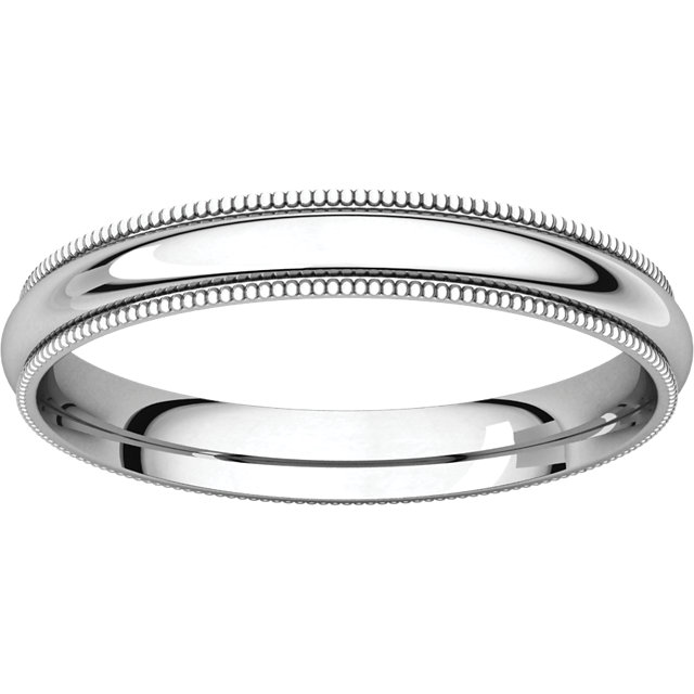 Picture of 14K Gold 3 mm Milgrain Comfort Fit Band