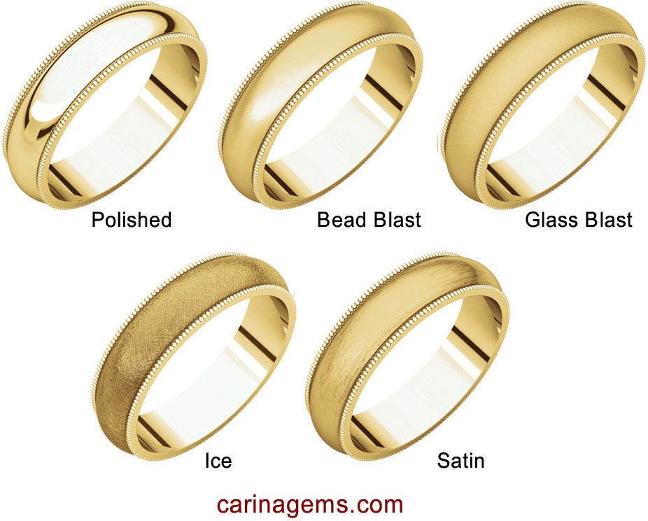 Picture of 14K Gold 4 mm Milgrain Comfort Fit Band