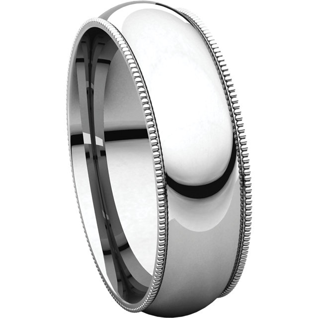 Picture of 14K Gold 6 mm Milgrain Comfort Fit Band