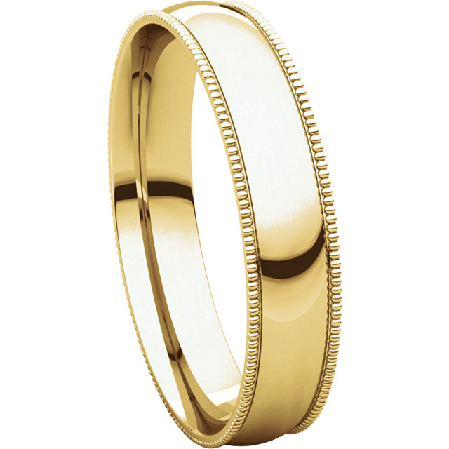 Picture of 14K Gold 4 mm Milgrain Light Comfort Fit Band