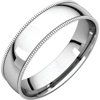 Picture of 14K Gold 5 mm Milgrain Light Comfort Fit Band