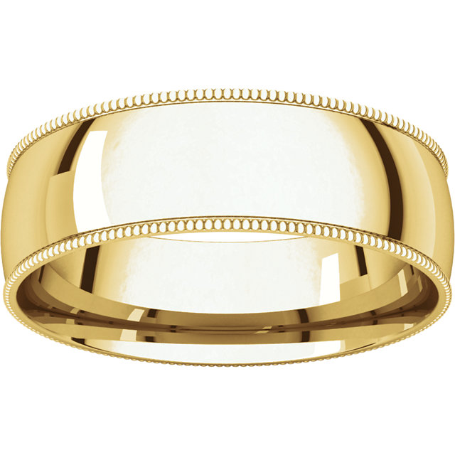 Picture of 14K Gold 6 mm Milgrain Light Comfort Fit Band