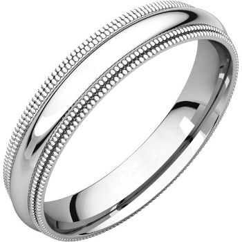 Picture of 14K Gold 4 mm Comfort Fit Double Milgrain Band