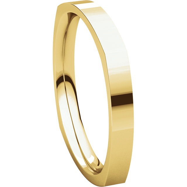 Picture of 14K Gold 2.5 mm Square Comfort Fit Band