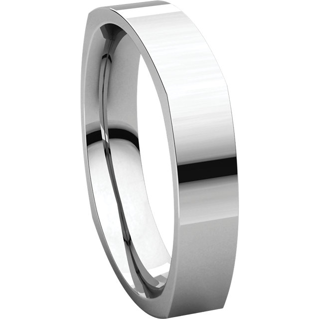 Picture of 14K Gold 4 mm Square Comfort Fit Band