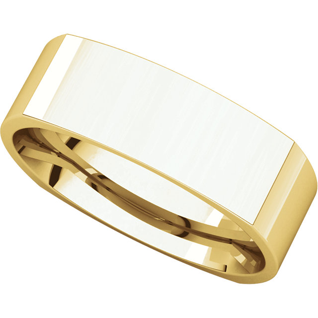 Picture of 14K Gold 6 mm Square Comfort Fit Band