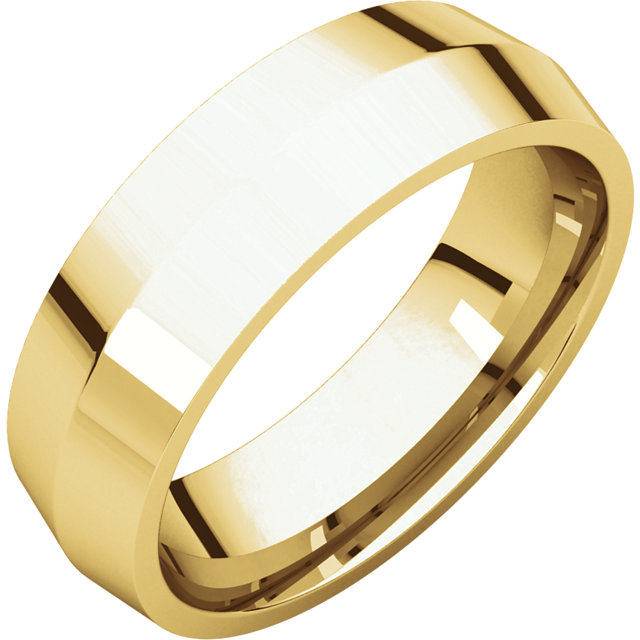 Picture of 14K Gold 6 mm Knife Edge Comfort Fit Band