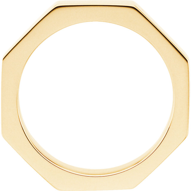 Picture of 14K Gold 3.75 mm Octagon Wedding Band