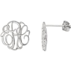 Picture for category Monogram Personalized Earrings Silver or Gold