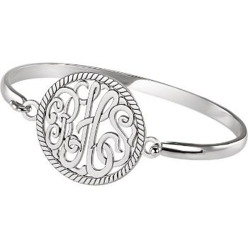 Picture of 28 mm 3-Letter Script Monogram Bracelet