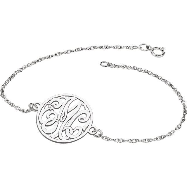 Picture of 20 mm 3-Letter Script Monogram Bracelet