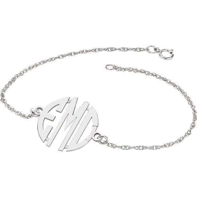 Picture of 20 mm 3-Letter Block Monogram Bracelet