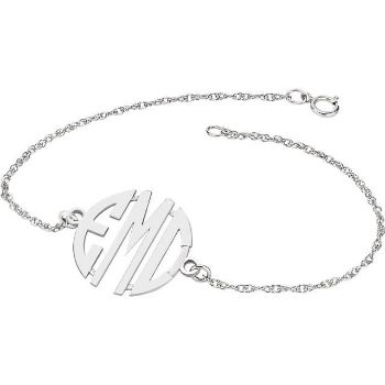 Picture of 20 mm 3-Letter Block Monogram Bracelet