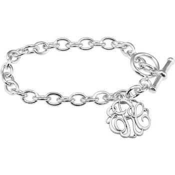 Picture of Charm Bracelet 20 mm 3-Letter Script Monogram