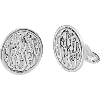 Picture of 18 mm 3-Letter Script Monogram Cuff Links