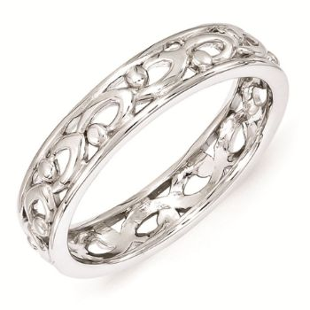 Picture of Sterling Silver Stackable Expressions Carved Ring
