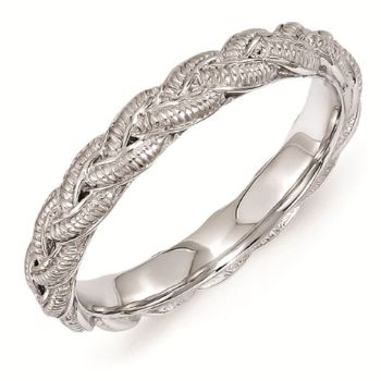 Picture of Sterling Silver Stackable 3.5 mm Twist Ring