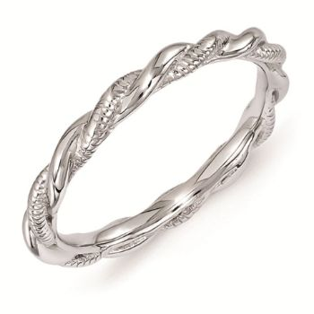 Picture of Sterling Silver Stackable 2.5 mm Twist Ring